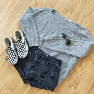 Anthropologie   Moth Gray Knit Sweater